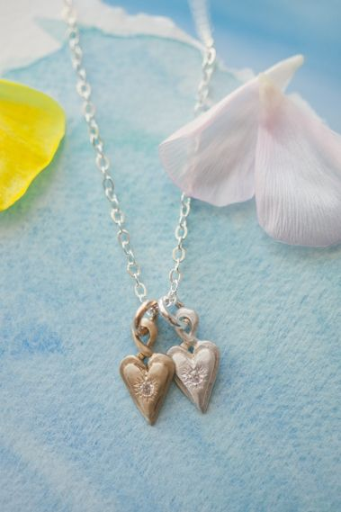 Petite Your Heart In Mine Necklace