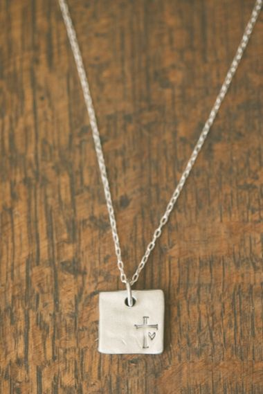 Faith Hope Love Necklace {Pewter}