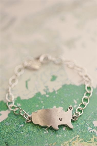 State Of My Heart Bracelet {Pewter}