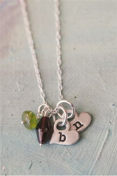 Itty Bitty Hearts Necklace {Pewter}