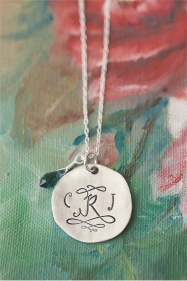 Classic Monogram Necklace {Pewter}