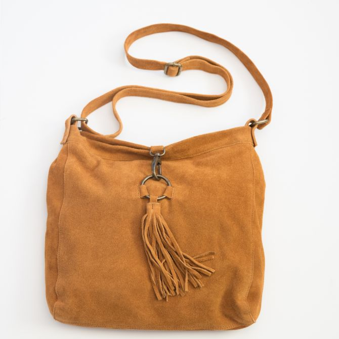 strong and brave crossbody {golden brown}