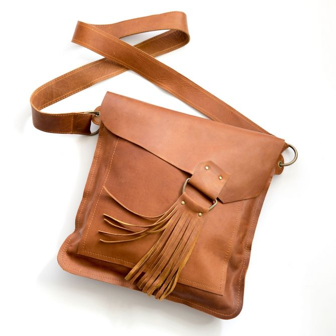 your heart in mine boho bag {honey brown}