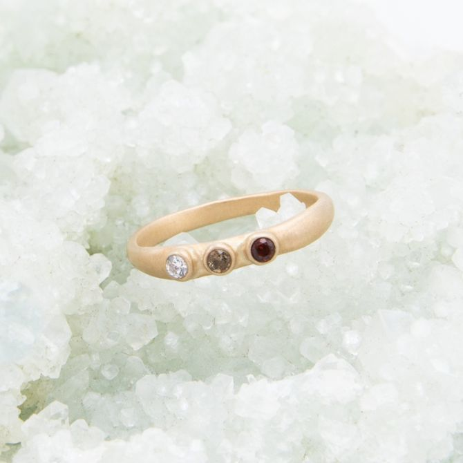10K Gold Mother's Ring with Birthstones