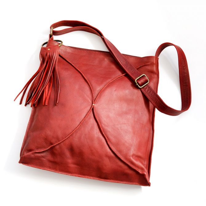 you are beautiful crossbody {deep ruby}
