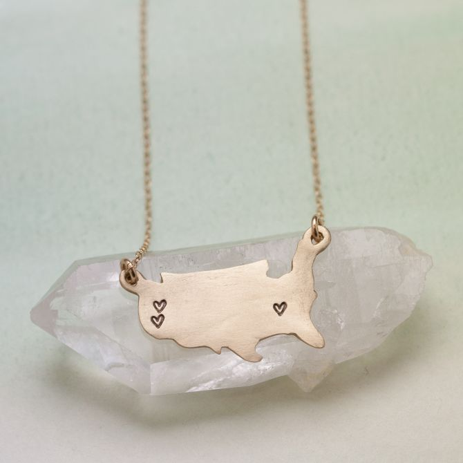 State Of My Heart Necklace {10K Gold}
