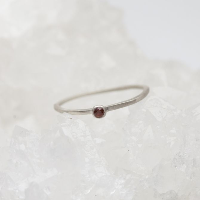 Dainty Finespun Birthstone Ring {Sterling Silver}