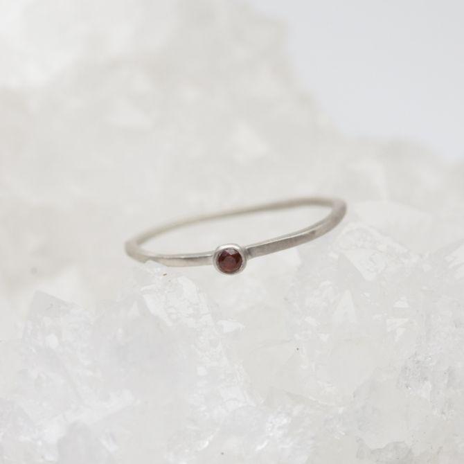 Finespun Birthstone Ring {Sterling Silver}