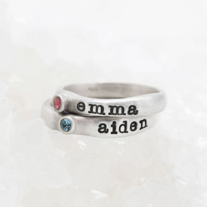 Personalized Passage Ring {Sterling Silver}