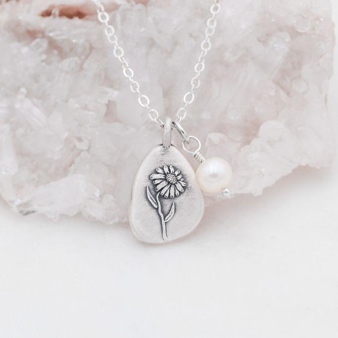 September Birth Flower Necklace {Sterling Silver}