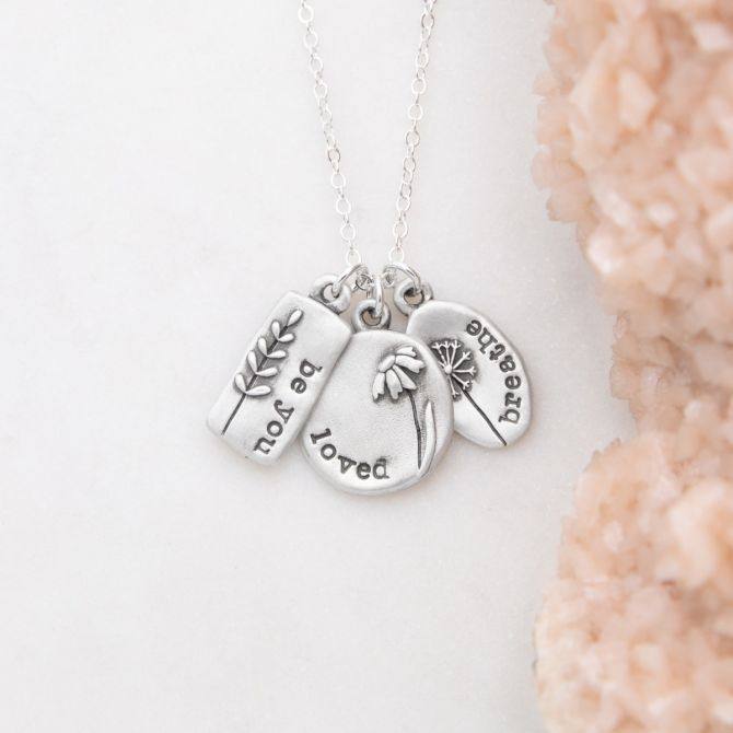 Be You Wildflowers Necklace {Sterling Silver}
