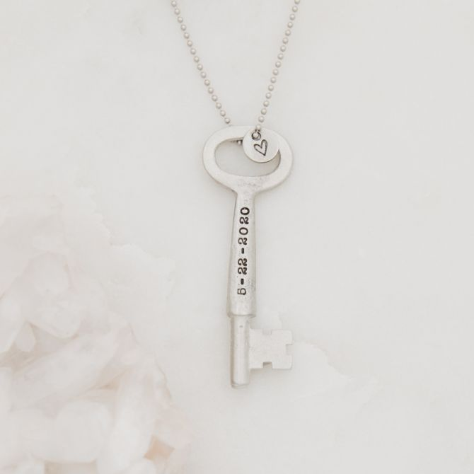 Key To My Heart Necklace {Pewter}