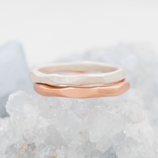 Geometric Stacking Ring {Rose Gold Plated}