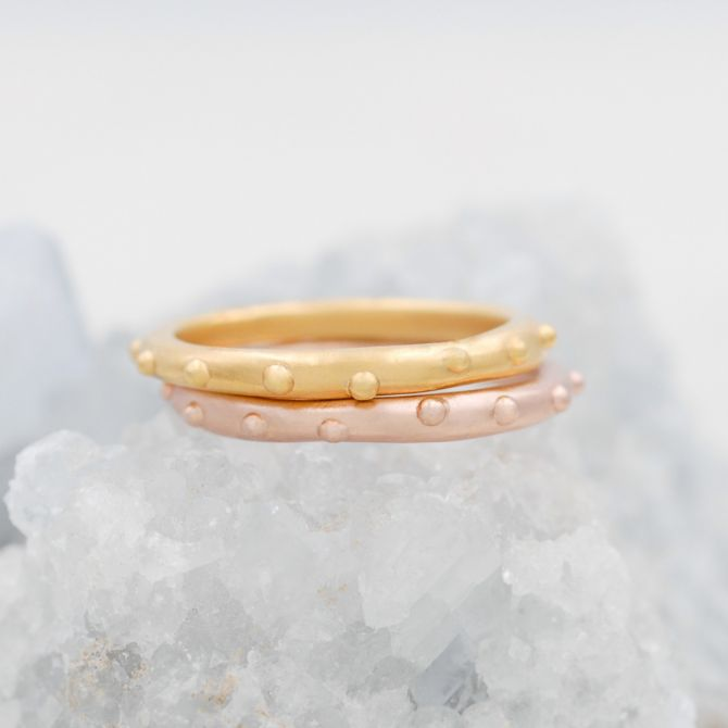 Happy Dots Stacking Ring {Rose Gold Plated}