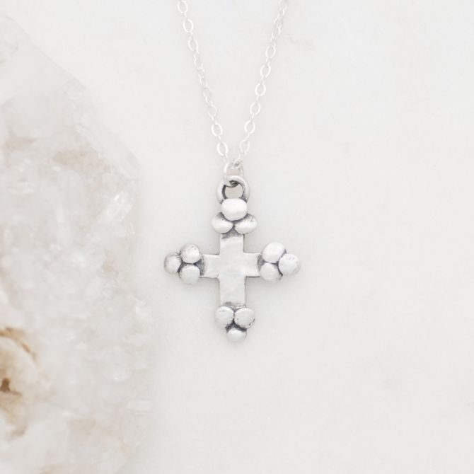 Known and Loved Cross Necklace {Sterling Silver}