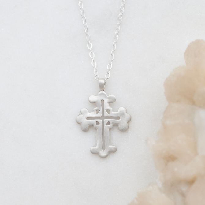Work of Art Cross Necklace {Sterling Silver}