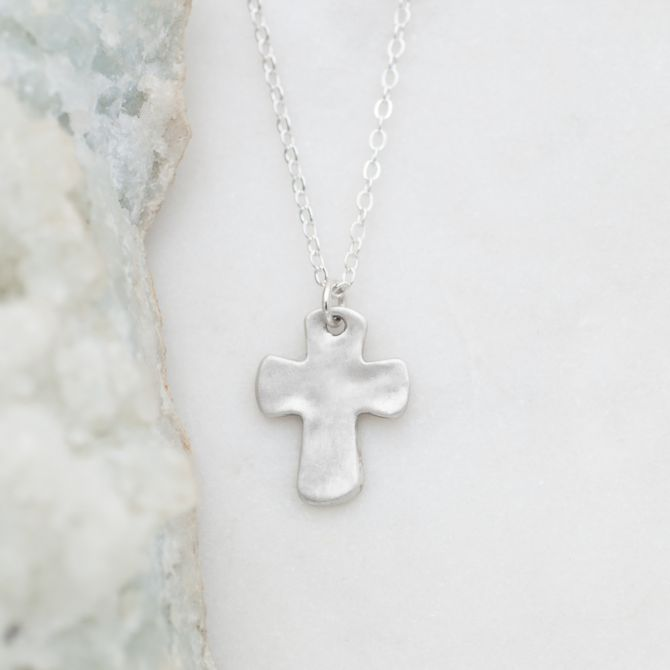 Grace For Today Cross Necklace {Sterling Silver}