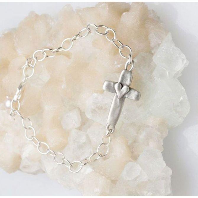 Cross of Faith Bracelet {Sterling Silver}