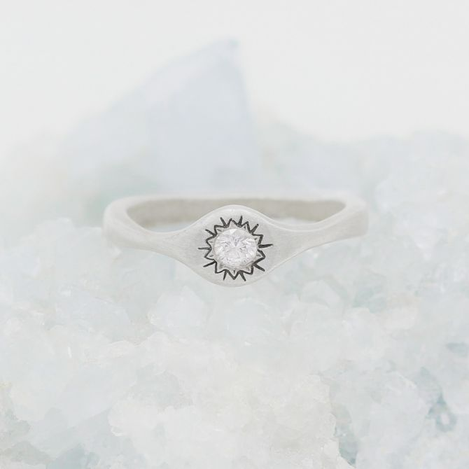 Sunburst Stacking Ring {Sterling Silver}