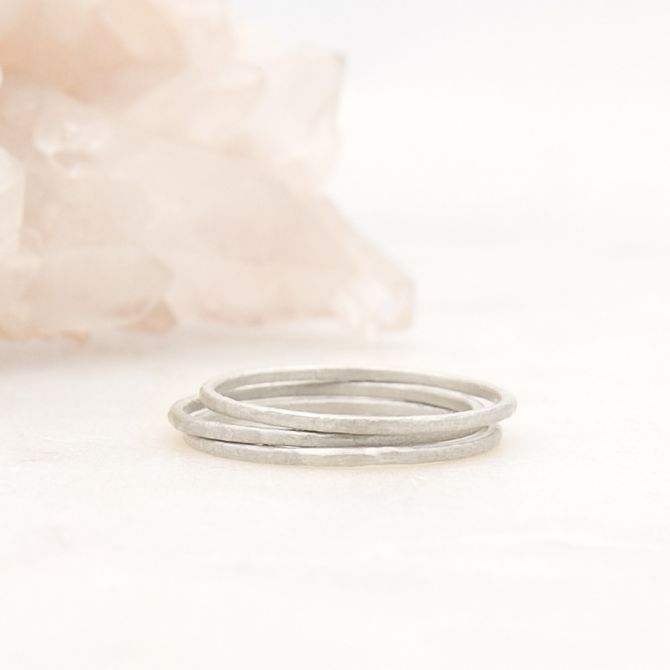 Featherweight Stacking Rings {Sterling Silver}