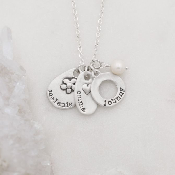 {sterling silver} jumble of charms necklace