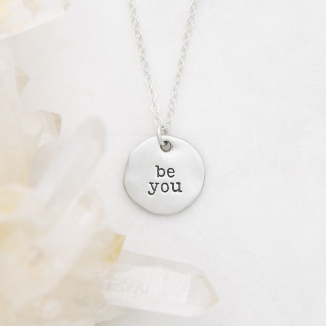 Be You Disc Necklace {Sterling Silver}