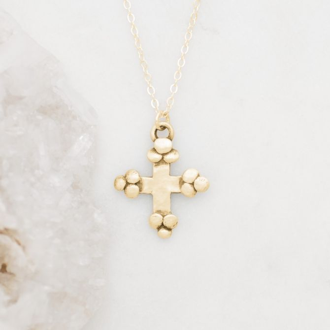 Known and Loved Cross Necklace {10K Gold}
