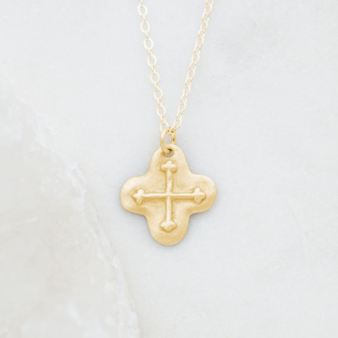 Shining Light Cross Necklace {10K Gold}