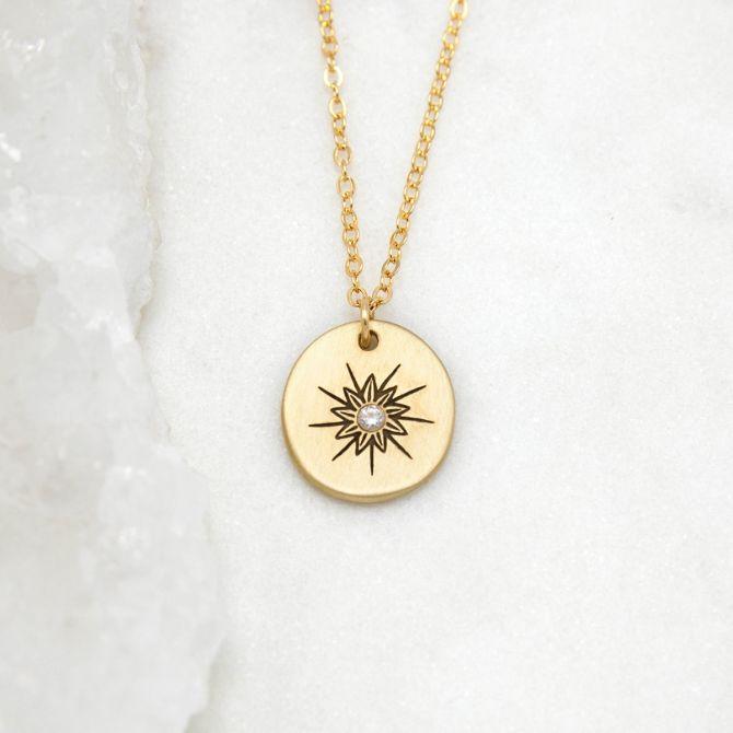 Sunburst Diamond Necklace {10k Gold}
