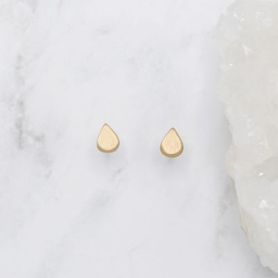 Raindrop Stud Earrings {14k Gold}
