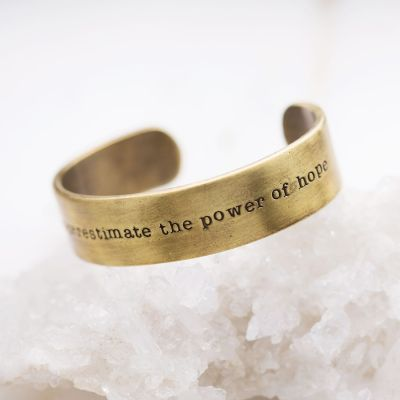 The Power of Hope Cuff {Bronze-Plated}