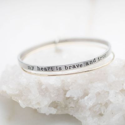 Brave and True Bangle Set {Mixed Metal}