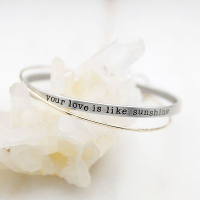 Your Love is Sunshine Bangle Set {Mixed Metal}