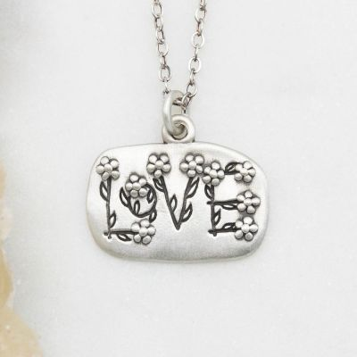 Love and Wildflowers Necklace {Sterling Silver}