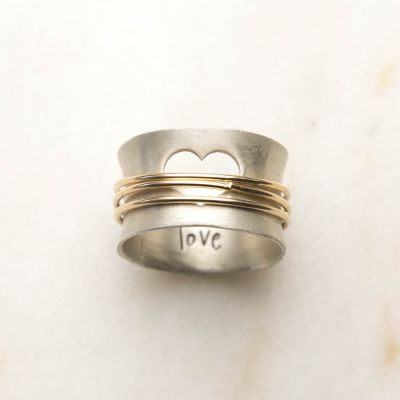 Brave Love® Spinner Ring (Sterling Silver)