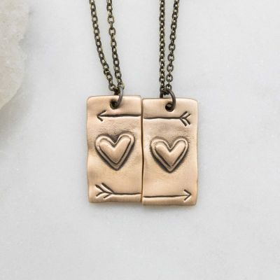 I Love You Necklace Set {Bronze}