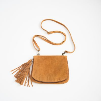 heart wide open crossbody {golden brown}