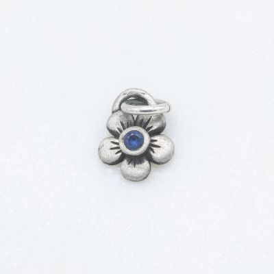 Birthstone Bloom Charm {sterling silver}
