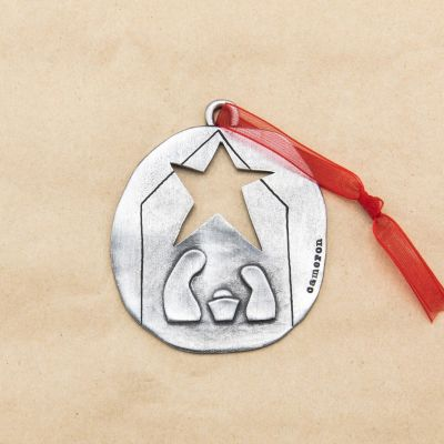 Nativity Ornament {Pewter}