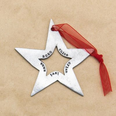 Molded Star Ornament {Pewter}