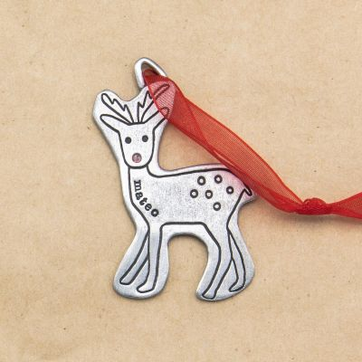 My Reindeer Ornament {Pewter}