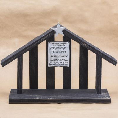 Nativity Wood Stable {Ebony}