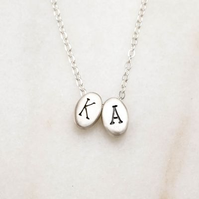 Draw Near Initials Necklace {Sterling Silver}