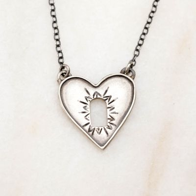 Heart Wide Open Necklace {Sterling Silver}