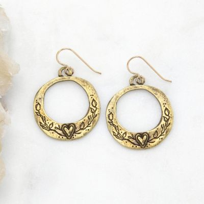 Let Love Grow Hoop Earrings {Bronze-Plated}