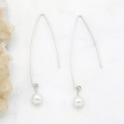 Artisan Pearl Earrings {sterling silver}