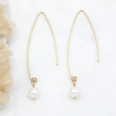 Artisan Pearl Earrings {10k gold}