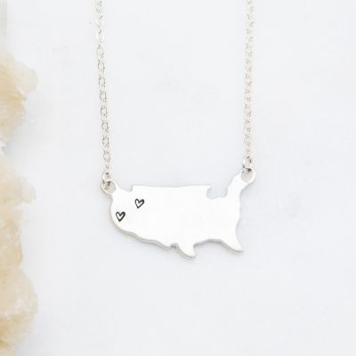 State Of My Heart Necklace {Sterling Silver}