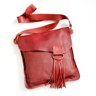 your heart in mine boho bag {deep ruby}