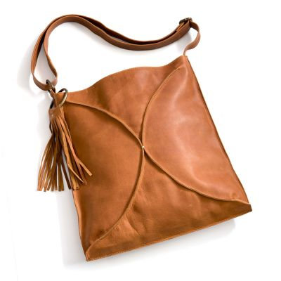 you are beautiful crossbody {honey brown}